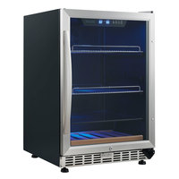 Eurodib USF54BC Single Section Single Temperature Full Glass Door Undercounter Wine Refrigerator