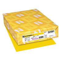 Astrobrights 22591 8 1/2 inch x 11 inch Sunburst Yellow Ream of 24# Color Paper - 500 Sheets