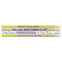 Moon 8207 Assorted Woodcase Barrel HB Lead #2 Assorted Motivational Messages Decorated Pencil   - 144/Box