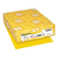 Astrobrights 22531 8 1/2 inch x 11 inch Solar Yellow Ream of 24# Color Paper - 500/Sheets