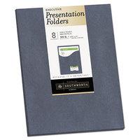 Southworth 98875 Letter Size Heavyweight 1-Pocket Paper Pocket Folder - Gray Metallic - 8/Pack