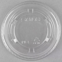Dart Conex PL4N Clear Plastic Souffle / Cup Lid   - 125/Pack