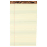 TOPS 7572 8 1/2 inch x 14 inch Wide Ruled Canary Perforated Legal Pad - 12/Pack