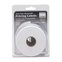 Monarch 925084 5/8 inch x 7/8 inch Easy-Load 1136 Two-Line White Pricemarker Labels - 3500/Pack