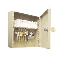 Steelmaster 201901003 6 7/8 inch x 2 inch x 6 3/4 inch Sand Key Lock Steel 10 Uni-Tag Key Cabinet