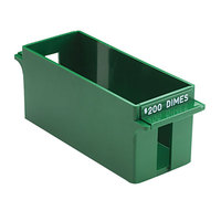 MMF Industries 212071002 Porta-Count System Green Plastic Extra-Capacity Rolled Coin Storage Tray