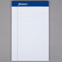 Ampad 20-304 5 inch x 8 inch College Ruled White Perforated Writing Pad - 12/Pack