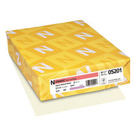 Neenah 05201 Classic 8 1/2 inch x 11 Natural White Ream of 24# Linen Copy Paper - 500/Sheets