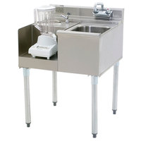 Eagle Group BD24-22L 2200 Series 24 inch Blender Module with Right Mount 10 inch x 14 inch Sink