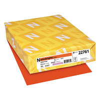 Astrobrights 22761 8 1/2 inch x 11 inch Orbit Orange Pack of 65# Smooth Color Paper Cardstock - 250/Sheets