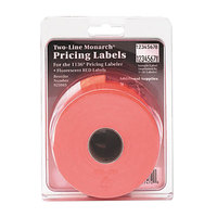 Monarch 925085 5/8 inch x 7/8 inch Easy-Load 1136 Two-Line Red Pricemarker Labels - 3500/Pack