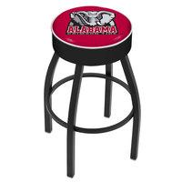 Holland Bar Stool L8B130AL-Ele University of Alabama Logo Single Ring Swivel Bar Stool with 4 inch Padded Seat