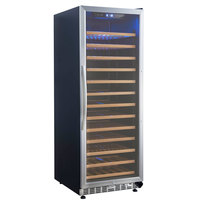 Eurodib USF128S Single Section Single Temperature Full Glass Door Wine Refrigerator