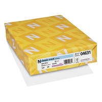 Neenah 04631 Classic Crest 8 1/2 inch x 11 inch Solar White Ream of 24# Copy Paper - 500/Sheets