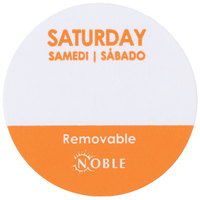 "Noble Products Saturday 1"" Removable Day of the Week Label - 1000/Roll"