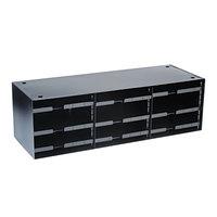 Steelmaster 20633SRBK 33 1/2 inch x 12 inch x 10 3/8 inch Black 12-Section Literature Sorter