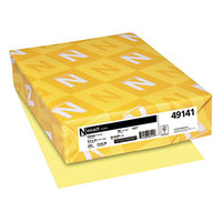 Neenah 49141 Exact 8 1/2 inch x 11 inch Canary Smooth 90# Index Paper Cardstock - 250/Pack