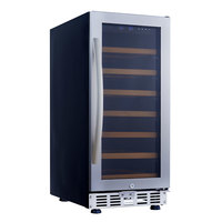 Eurodib USF33S Single Section Single Temperature Full Glass Door Undercounter Wine Refrigerator