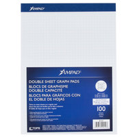 Ampad 20-210 8 1/2 inch x 11 3/4 inch Quadrille Ruled White Perforated Writing Pad - 12/Pack