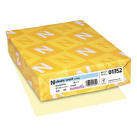 Neenah 01352 Classic Crest 8 1/2 inch x 11 inch Baronial Ivory Ream of 24# Copy Paper - 500/Sheets