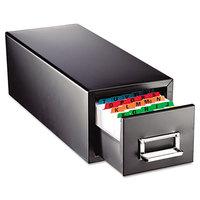 Steelmaster 263F5816SBLA 9 7/16 inch x 16 inch x 7 1/2 inch Black 1 Drawer Index Card Cabinet - 5 inch x 8 inch Cards