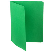 Oxford 52503 8 1/2 inch x 11 inch Green Report Cover with 3 Fasteners - 25/Box