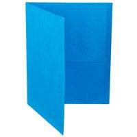 Oxford 57513EE Letter Size 2-Pocket Embossed Paper Pocket Folder, Assorted Color - 25/Box