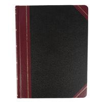 Boorum & Pease BOR 21-300-R Columnar 8 1/8 inch x 10 3/8 inch Black Accounting Book