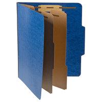 Pendaflex PFX 1257BL Letter Size Moisture-Resistant Classification Folder - 10/Box