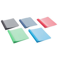 Oxford 55813 8 1/2 inch x 11 inch Assorted Color Clear Front Report Cover with 3-Prong Fastener, Letter - 25/Box