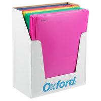 Oxford 99811 Letter Size 2-Pocket Plastic Pocket Folder - Tang Fasteners, Assorted Color - 25/Box
