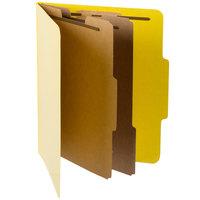 Pendaflex PFX 1257Y Letter Size Moisture-Resistant Classification Folder - 10/Box