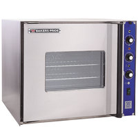 Bakers Pride COC-E1 Cyclone Series Single Deck Half Size Electric Convection Oven, Left Hand Hinge - 208V, 1 Phase, 9500W
