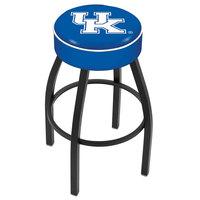 Holland Bar Stool L8B130UKY-UK University of Kentucky Logo Single Ring Swivel Bar Stool with 4 inch Padded Seat