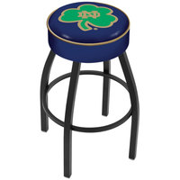 Holland Bar Stool L8B130ND-Shm Notre Dame Single Ring Swivel Bar Stool with 4 inch Padded Seat