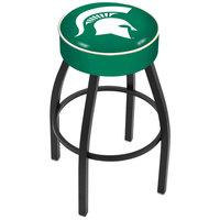 Holland Bar Stool L8B130MichSt Michigan State University Single Ring Swivel Bar Stool with 4 inch Padded Seat