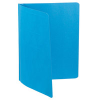 Oxford 52501 8 1/2 inch x 11 inch Light Blue Report Cover with 3 Fasteners - 25/Box