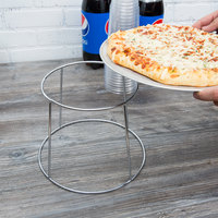 Choice 7 inch Chrome Plated Steel Steel Pizza Stand