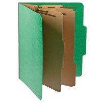 Pendaflex PFX 1257GR Letter Size Moisture-Resistant Classification Folder - 10/Box