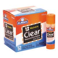 Elmer's E4064 0.28 oz. Clear Repositionable School Glue Stick - 12/Box