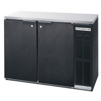 Beverage-Air BB48HC-1-B-27 48 inch Back Bar Refrigerator with 2 Solid Doors and Stainless Steel Top - 115V