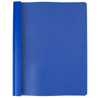 Oxford 58801EE Premium Paper 8 1/2 inch x 11 inch Blue Clear Front Report Cover with 3 Fasteners - 25/Box