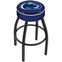 Holland Bar Stool L8B130PennSt Penn State University Single Ring Swivel Bar Stool with 4 inch Padded Seat