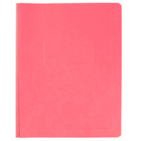 Oxford 52511 8 1/2 inch x 11 inch Red Report Cover with 3 Fasteners - 25/Box