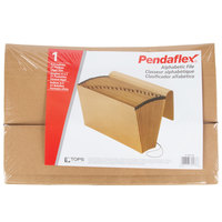 Pendaflex PFX K-19A-OX Legal Size 21-Pocket Expanding File - A-Z Indexed, Flap and Cord Closure, Brown