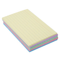Oxford OXF 40280EE 3 inch x 5 inch Assorted Color Ruled Index Card - 100/Pack
