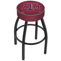 Holland Bar Stool L8B130TexA-M Texas A&M Single Ring Swivel Bar Stool with 4 inch Padded Seat