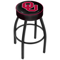Holland Bar Stool L8B130Oklhma Oklahoma University Single Ring Swivel Bar Stool with 4 inch Padded Seat