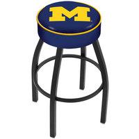 Holland Bar Stool L8B130MichUn University of Michigan Single Ring Swivel Bar Stool with 4 inch Padded Seat