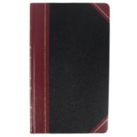 Boorum & Pease BOR 9-500-R 14 1/8 inch x 8 5/8 inch Black / Red Record and Account Book
